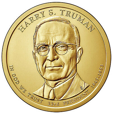 2015 D or P Harry S. Truman Presidential $1 dollar from US Mint roll