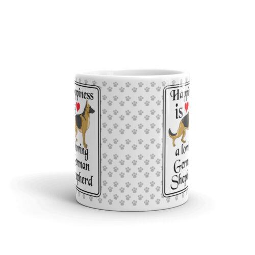 Happiness is Loving German Shepherd Coffee Tea Ceramic Mug Office Work Cup Gift