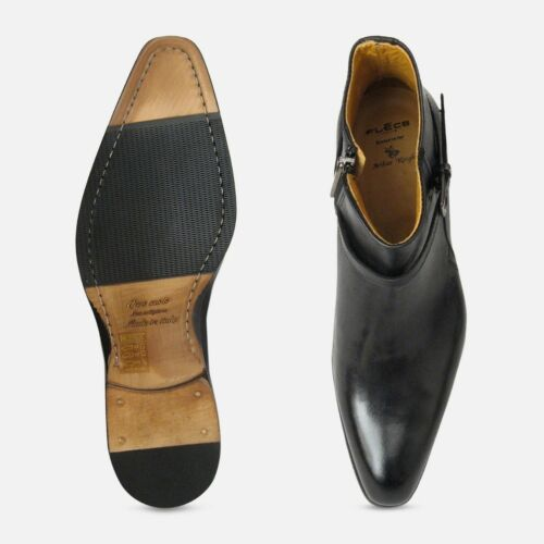 Black Calf Zip Designer Boots Jodhpur EH92bWDeIY