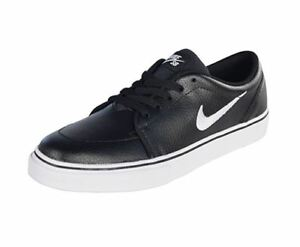 6b581def7ef6 Nike SB Satire Leather Men s Skateboarding  Black   White  Men SIZE ...