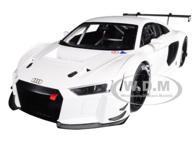 AUDI R8 FIA GT GT3 PLAIN COLOR VERSION bianca  1/18 MODEL CAR BY AUTOART 81602