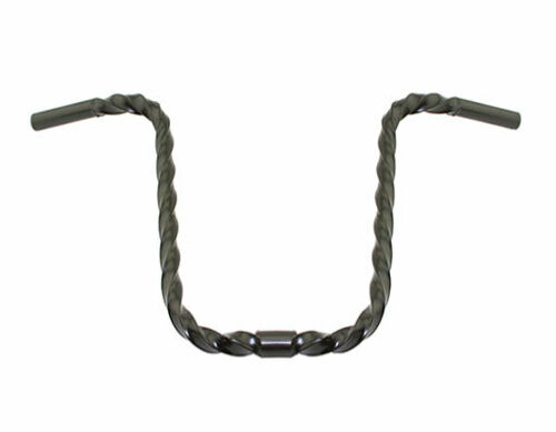 "Brand New 13/"" Square Twisted Lowrider Bike Bicycle Handlebar 25.4mm Clamp Black"