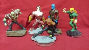 5-DISNEY-INFINITY-Marvel-Black-Widow-Falcon-1-0-2-0-3-0-Figure-Lot-Wii-PS3-360