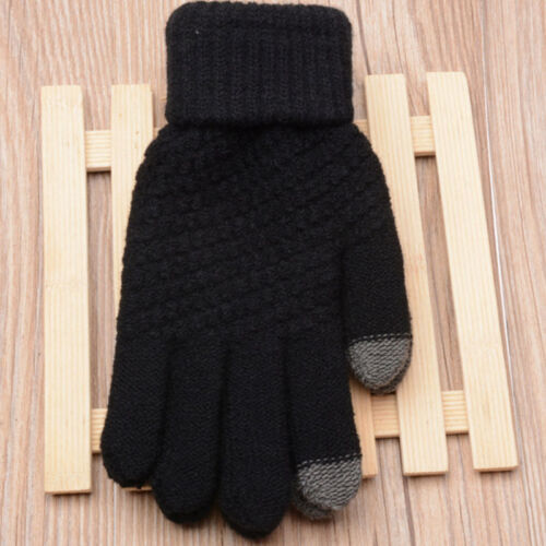 cLadies Women Glove Cable Knit Thermal Winter Warm Touch Screen Mitten Outdo BSP