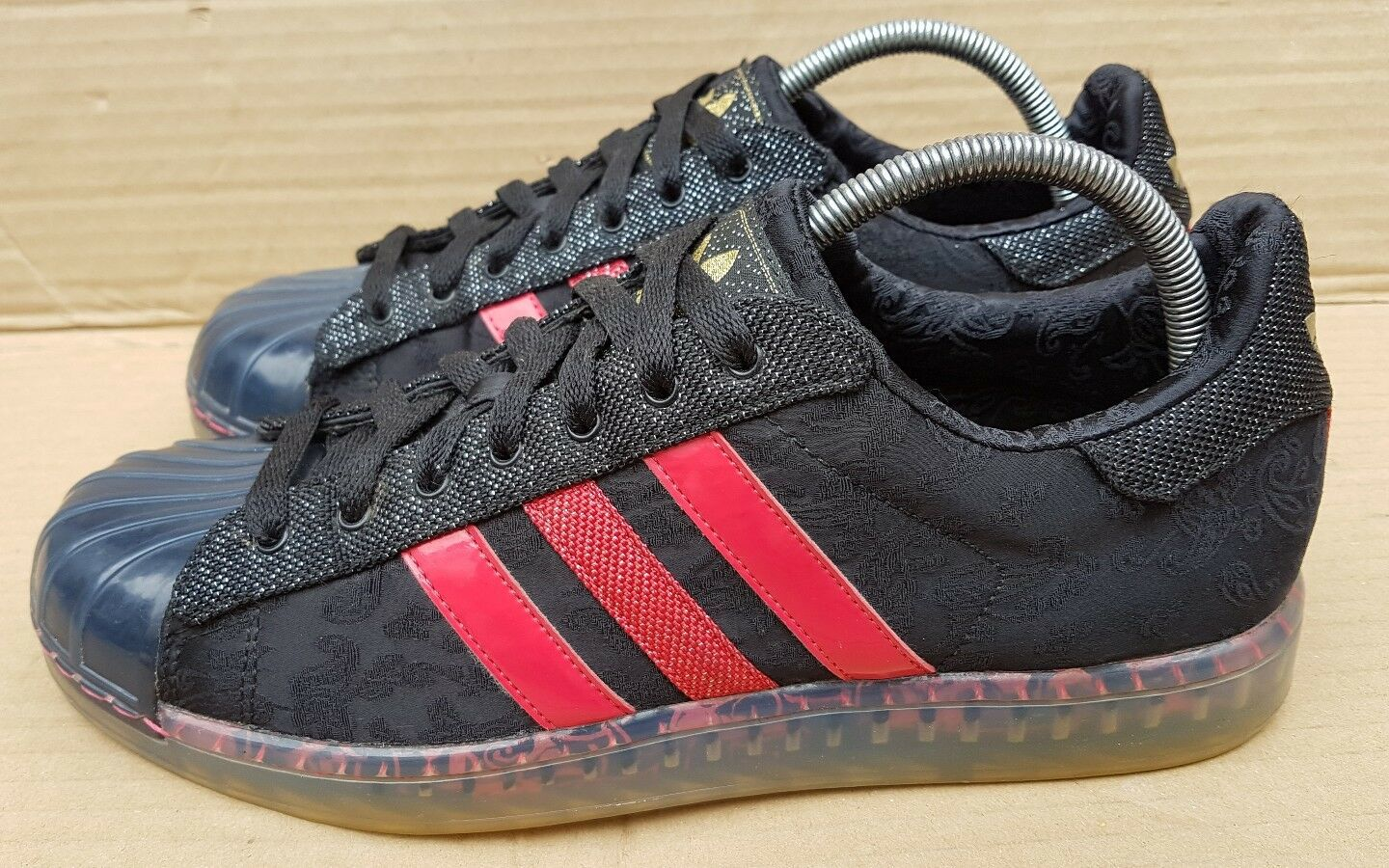 ADIDAS SUPERSTAR CLR 7 SINS OF SOLE TRAINERS BLACK AND ROT SIZE 7 UK RARE MINT