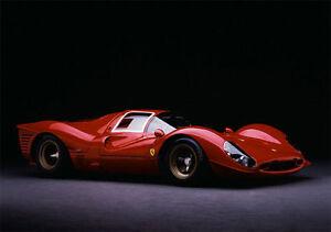 1966-Lemans-Ferrari-Race-Car-Model-Carousel-Red-gP-f1-18-24-12-Gift-For-Men