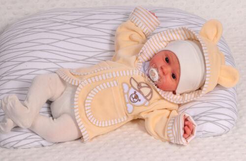 Jacke Nicki Baby Kinder Jäckchen Kapuzenjacke 50 56 62 68 74 80 86 92 Creme