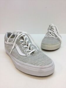 75ddefd9682 VANS OLD SKOOL GRAY MULTI COLOR CANVAS LACE UP SNEAKERS SIZE 5.5 M ...