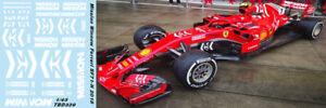 1/43 Ferrari Sf71h 2018 Mission Winnow Decals Vettel Raikkonen Tb Decal Tbd339