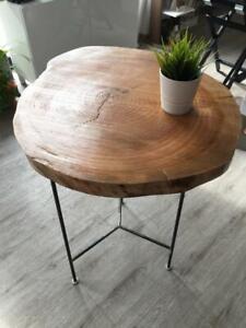 Tavolo Rotondo Artigianale Da Tronco Di Albero Ebay