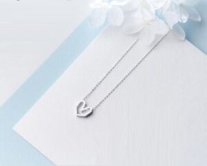 Love-Tiny-Heart-925-Sterling-Silver-Pendant-Chain-Necklace