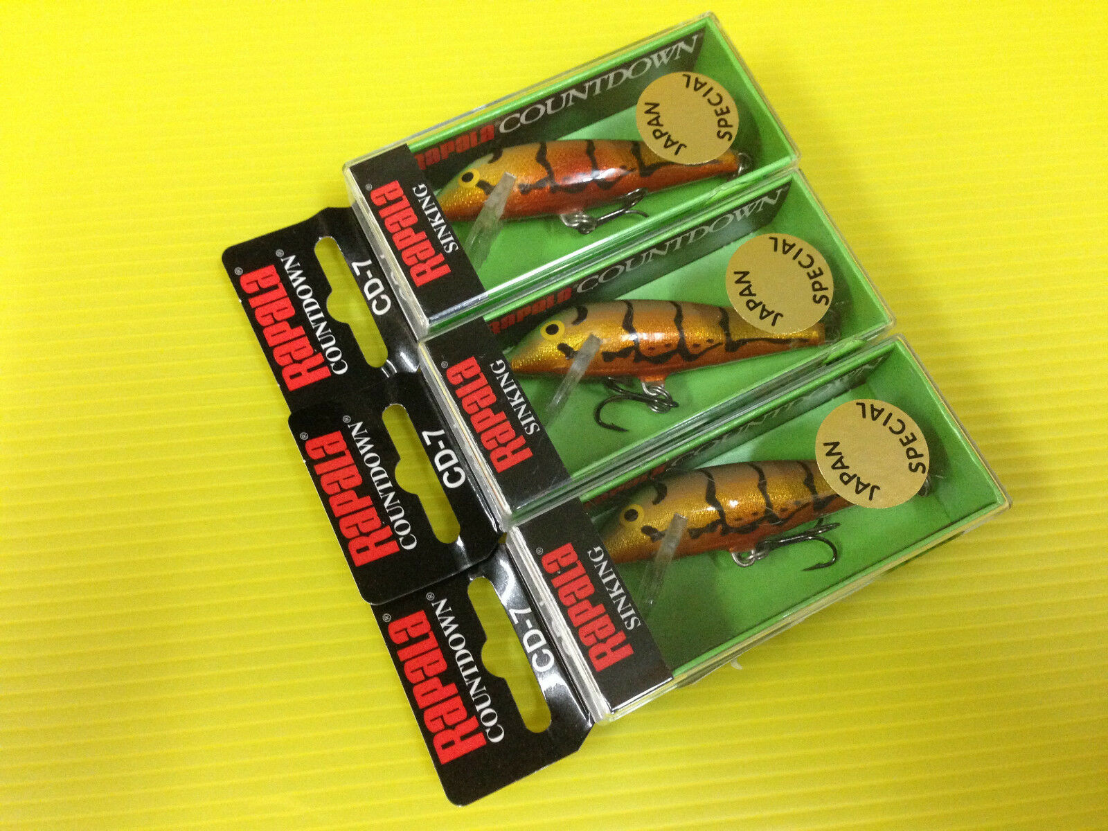 Three Rapala Countdown CD-7 JGBR Japan Special color Minnow Fishing  Lures.  more affordable
