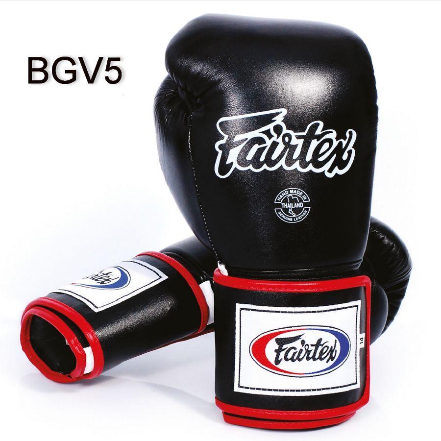 BGV5 Fairtex Black Super Sparring Muay Thai Boxing Gloves