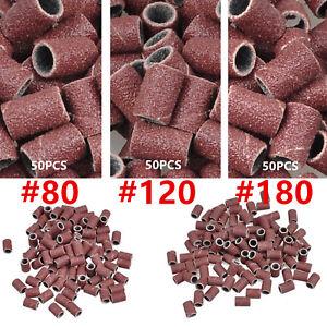 150-PCS-Nail-Drill-80-034-120-034-180-034-50-Sanding-Band-Machine-Replacement-Bits-Pedicure