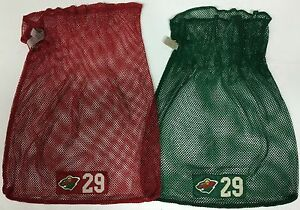 Warrior Laundry Bag Nhl Minnesota Wild Green And Red Bags Ebay