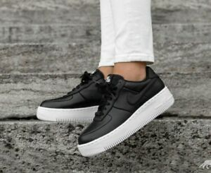 Details about 10.5 WOMEN'S Nike Air Force 1 Upstep CASUAL Black White 917588 001 AF1