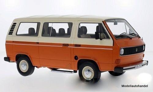 Carnaval de Noël, bonne offre à Noël Volkswagen vw t3 Bus orange/beige (camionnette) 1:18 Premium ClassiXXs   Aspect Attrayant