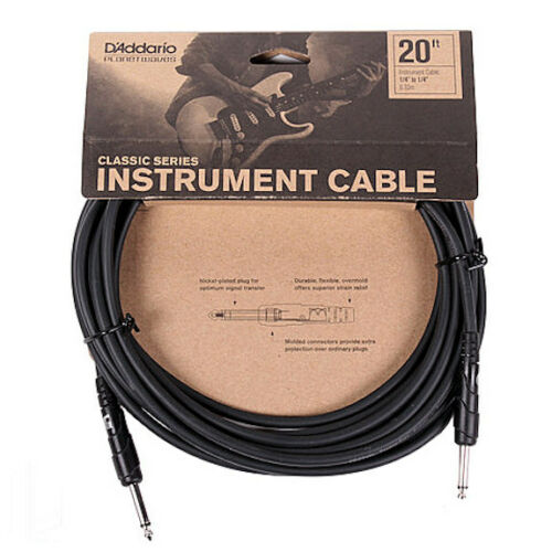 20/' CLASSIC SERIES INSTRUMENT CABLE 2 STRAIGHT ENDS PLANET WAVES PW-CGT-20