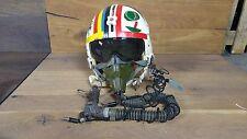 USAF Vietnam War Gentex Flyers Pilot Decorated Helmet W/ Mask Headset Visor Rare