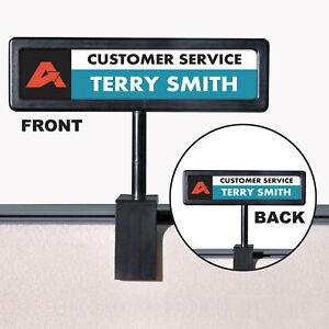 Advantus-People-Pointer-Cubicle-Sign-Plastic-9-x-2-1-2-Black-75334