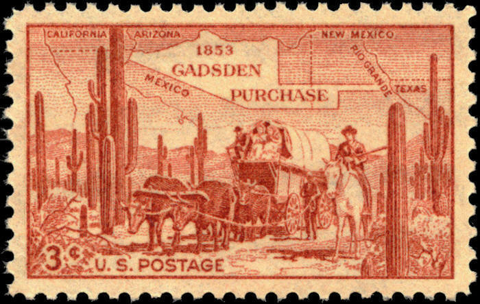 1953 3c James Gadsden Purchase, Arizona & New Mexico Sc