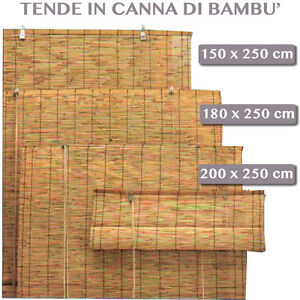 Tende da sole arella in canna bambu 39 per arredo esterno for Canne di bambu per arredamento