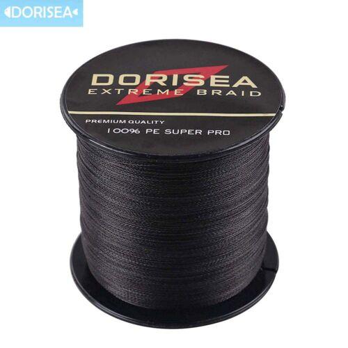 Dorisea 500M 100M Black Fishing Line Power PE Dyneema Braided Fishing Line