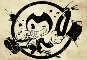 bendy the ink machine bendy with hat poster vinyl wall sticker