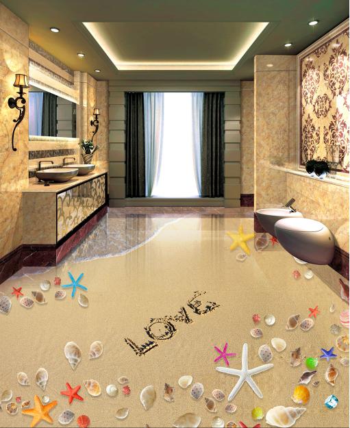 3D Lovely Stone Beach 89 Floor WallPaper Murals Wall Print Decal AJ WALLPAPER US