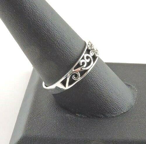 Sterling Silver Filigree Flower Ring