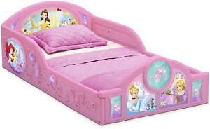Toddler-Bed-For-Girls-Pink-Frame-Princess-Floor-Kids-Plastic-Play-Cinderella-NEW