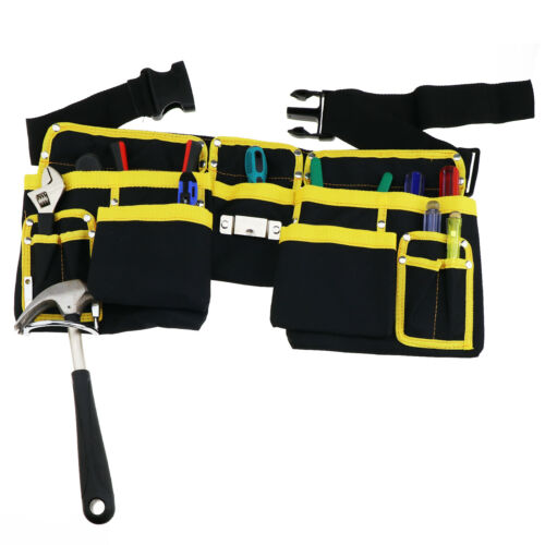 Werkzeuggürtel 3 Taschen mit 11 Fächer Schwarz/&Gelb Werkzeug Organizer Tasche