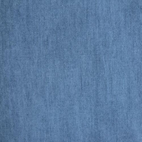 4 oz SOFT WASHED INDIGO DENIM 100/% COTTON FABRIC dressmaking shirts CHAMBRAY