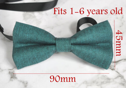 Boy Kids Baby 100/% Cotton Peacock Green Bow Tie Bowtie Wedding 1-6 Years Old