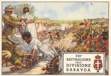 6029 WW ETIOPIA 230 BATTAGLIONE DIVISIONE SABAUDA AFRICA ORIENTAL. ILL. D'ERCOLI