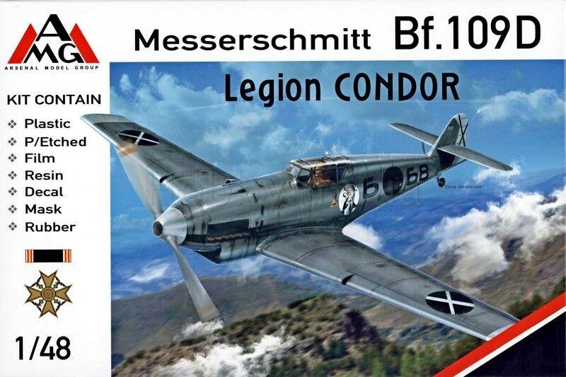 1 48 Bf-109D Legion Condor (+ PE, mask) - NEW AMG