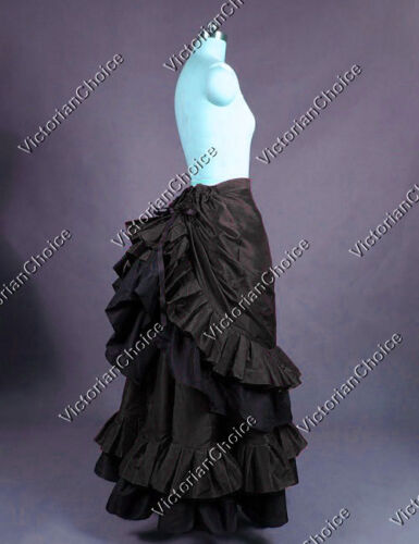 Victorian Costumes: Dresses, Saloon Girls, Southern Belle, Witch    Victorian Edwardian Black Harry Potter Witch Skirt Punk Halloween Costume K034 $115.00 AT vintagedancer.com