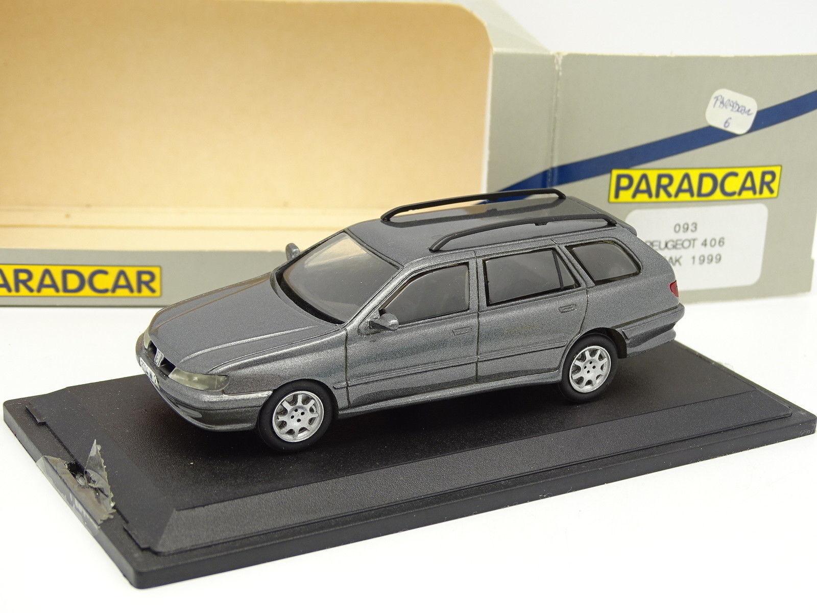 Paradcar Resin 1 43 - Peugeot 406 Break 1999 Grey