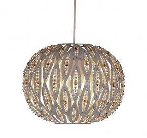Modern-Taupe-Metal-Leaf-Design-Easy-Fit-Ceiling-Light-Shade-Bedroom-Lounge-NEW