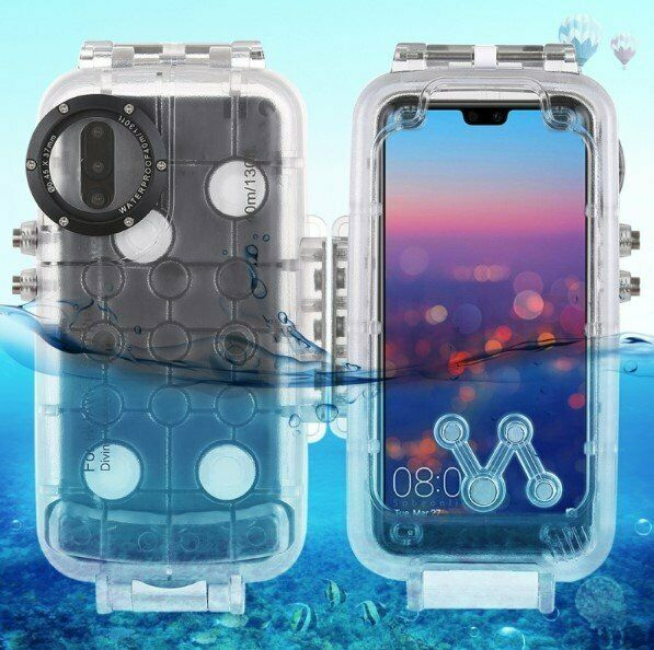 Waterproof Housing Underwater Case Snorkeling Cover for HUAWEI P20/P20 Pro