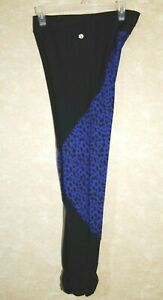 Standing-Tree-Yoga-Pant-Black-with-Blue-Cheetah-Print-Size-Large-Fitness-Gym