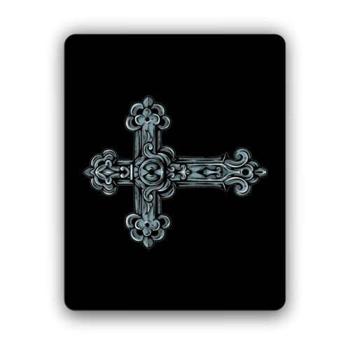 Gothic Cross Computer Mouse Pad For Computers and Laptops