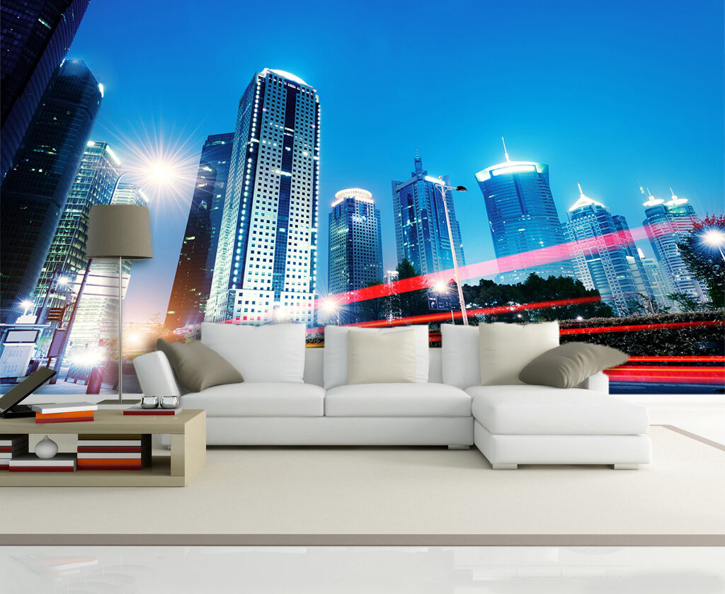 3D Light High Rise 779 Wall Paper wall Print Decal Wall Deco Indoor wall Mural