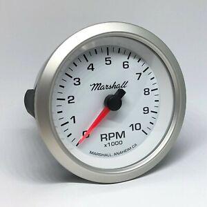 Marshall-3-3-8-034-In-Dash-Tachometer-WhiteDial-Silver-Bezel-2251