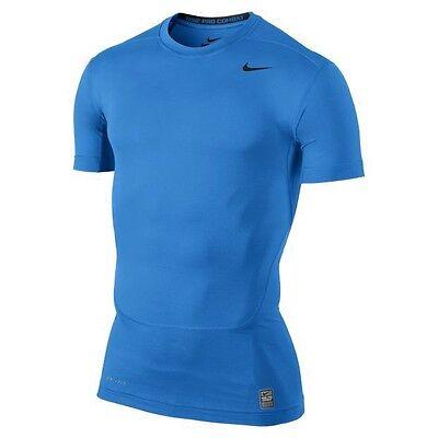 Nike Pro Core Compression 2.0 Top II Tshirt T-shirt light blue NEW 449792-433