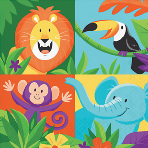 Celebrations Occasions Jungle Safari Lunch Napkins Animal Zoo Party Table Decorations Lion Elephant Home Furniture Diy Breadcrumbs Ie Elephant safari free png stock. celebrations occasions jungle safari lunch napkins animal zoo party table decorations lion elephant home furniture diy breadcrumbs ie