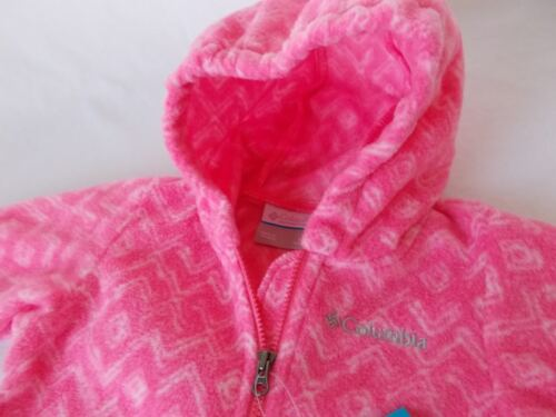 NWT Columbia FIRESIDE CUDDLE BUNTING Fleece Suit PINK Infant 3-6 Months  XN0007
