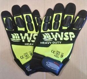 Mechanics-Gloves-Hi-Vis-Heavy-Duty-High-Impact-AVYh-Brand-New