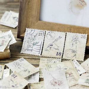 46Pcs-box-Vintage-Stamp-Paper-Stickers-DIY-Diary-Scrapbooking-Decorative-Sticker