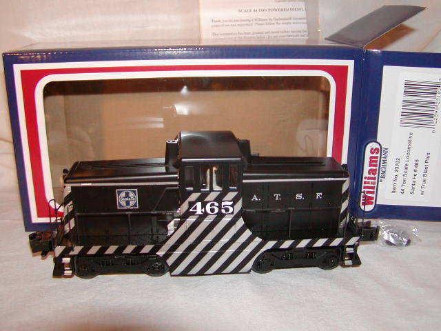 Williams Bachuomon 23102 Santa Fe 44 Ton Scale Locomotive Switcher 465 True Blast